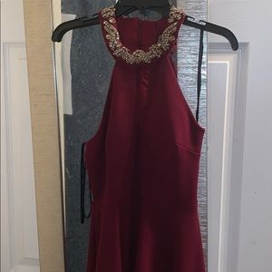 Beautiful hoco/prom/wedding Maroon dress